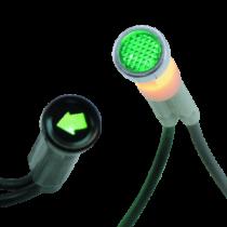 Visszajelző lámpa zöld