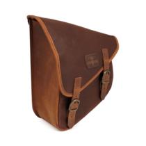 Viaszolt barna szövet lengővilla táska