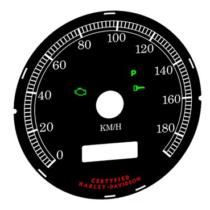 Számlap km/h 80mm